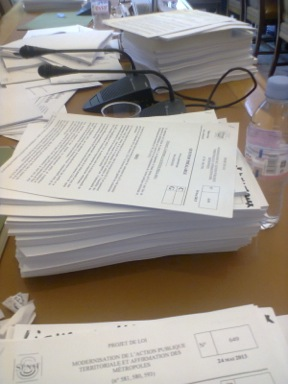 La pile des 900 amendements